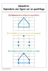 Reproduire une figure sur un quadrillage – Cp – Affiche pour la classe – Cycle 2