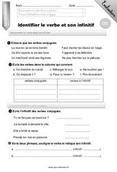 Identifier le verbe et son infinitif – CE2 – Evaluation – Bilan