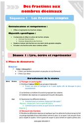 Lire – Ecrire et représenter – Cm1 – Cm2 – Séance 1 – Fractions simples – Séquence 1