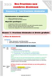 Fractions décimales et droite graduée – Cm1 – Cm2 – Séance 2 – Fractions décimales – Séquence 2