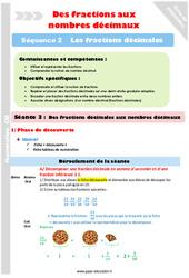 Fractions décimales aux nombres décimaux – Cm1 – Cm2 – Séance 3 – Fractions décimales – Séquence 2