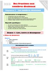 Lire – Ecrire et décomposer – Cm1 – Cm2 – Séance 1 – Nombres décimaux – Séquence 3