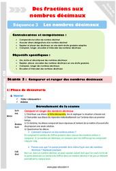 Comparer et ranger – Cm1 – Cm2 – Séance 3 – Nombres décimaux – Séquence 3