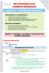 Encadrer et intercaler – Cm1 – Cm2 – Séance 4 – Nombres décimaux – Séquence 3