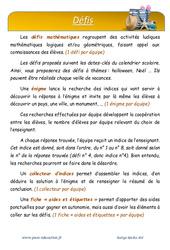 Été – CM1 – Défi maths – Enigmes mathématiques