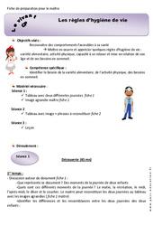 Règles d'hygiène de vie – CP – Fiche de préparation
