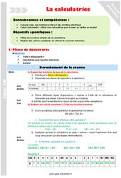 Utiliser la calculatrice – Cm1 – Fiche de préparation
