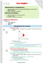 Identifier et comparer les angles – CM1 – Fiche de préparation