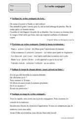Verbe conjugué – Cm2 – Fiche d'exercices avec correction