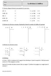 Division à 2 chiffres - Cm2 - Révisions à imprimer
