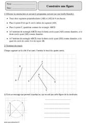 Construire une figure – Cm2 – Exercices avec correction