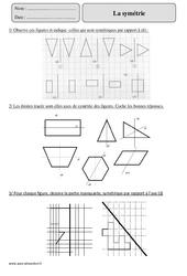 Symétrie – Cm2 – Exercices avec correction
