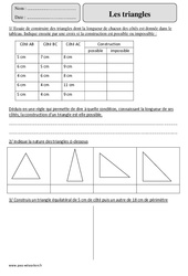 Triangles – Cm2 – Exercices avec correction