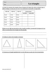 Triangles – Cm2 – Exercices avec correction