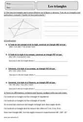 Triangles – Cm2 – Révisions à imprimer