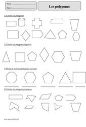 Polygones – Cm2 – Révisions à imprimer