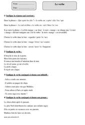 Verbe – Cm1 – Exercices à imprimer