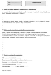 Ponctuation – Cm1 – Révisions à imprimer