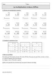Multiplication à 2 chiffres – Cm1 – Révisions à imprimer
