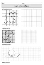 Reproduire une figure – Cm1 – Exercices à imprimer de géométrie