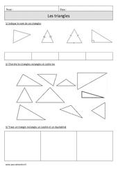 Triangles – Cm1 – Exercices à imprimer