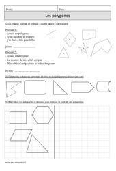 Polygones – Cm1 – Révisions avec correction