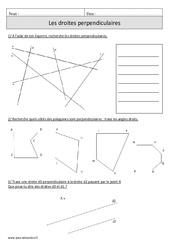 Equerre - Droites perpendiculaires – Cm1 – Exercices avec correction