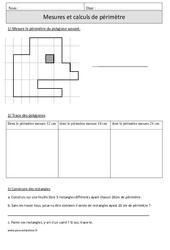 Périmètre – Cm1 – Exercices avec correction