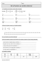 De la fraction au nombre décimal – Cm1 – Révisions avec correction