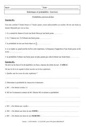 Probabilités – 3ème – Exercices – Brevet des collèges