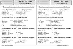 1er et 2ème groupe – Présent – Ce2 – Révisions à imprimer