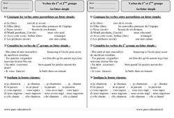 Futur simple - 1er et 2ème groupe – Ce2 – Exercices à imprimer
