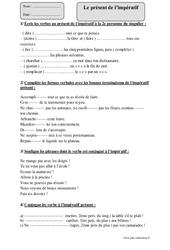 Présent de l'impératif – Cm1 – Révisions à imprimer