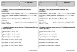 Adverbes – Ce2 – Révisions à imprimer