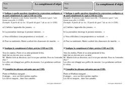 Compléments d'objets – Ce2 – Exercices avec correction