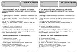 Verbe se conjugue – Ce2 – Révisions