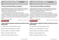 Phrase – Ce2 – Révisions avec correction