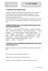 Verbe conjugué – Cm1 – Exercices à imprimer