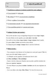 Adjectif qualificatif  – Cm1 – Exercices à imprimer