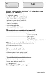 Sujet - Cm1 - Révisions avec corrigés