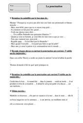 Ponctuation – Cm1 – Exercices à imprimer