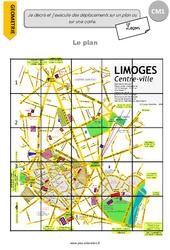 Je décris et j'exécute des déplacements sur un plan ou sur une carte – CM1 – Lecon