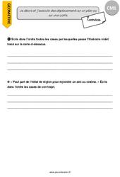 Je décris et j'exécute des déplacements sur un plan ou sur une carte – CM1 – Exercices à imprimer