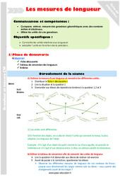 Mesures de longueur – Cm2 – Fiche de préparation
