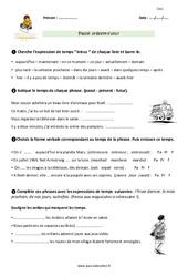 Passé, présent, futur – CM1 – Exercices avec correction