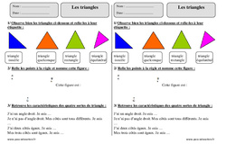 Triangles – Ce2 – Exercices à imprimer