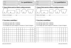 Quadrilatères – Ce2 – Révisions avec correction
