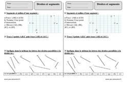 Droites et segments – Ce2 – Exercices à imprimer