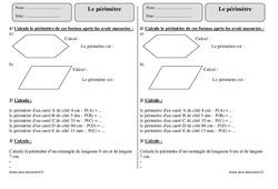 Périmètre – Ce2 – révisions à imprimer