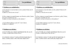 Problèmes – Ce2 – Exercices à imprimer